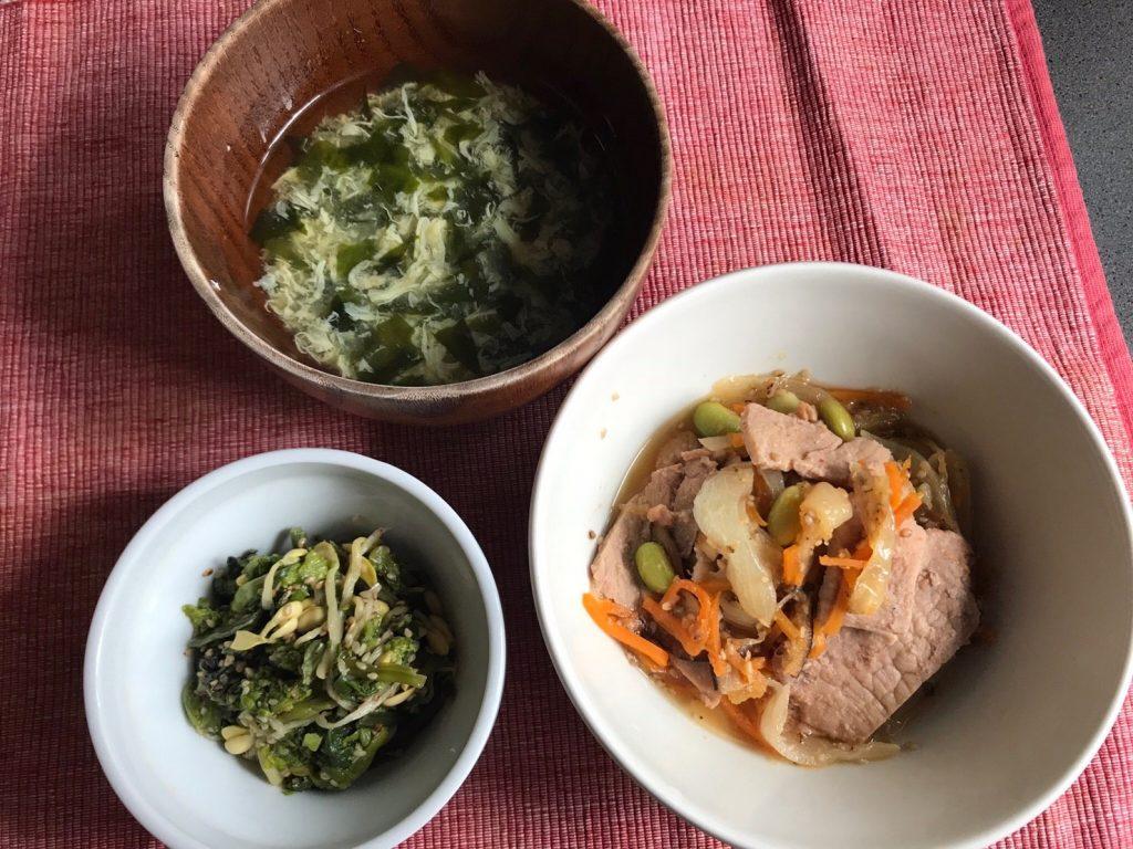 豚肉の韓国風炒め調理済み