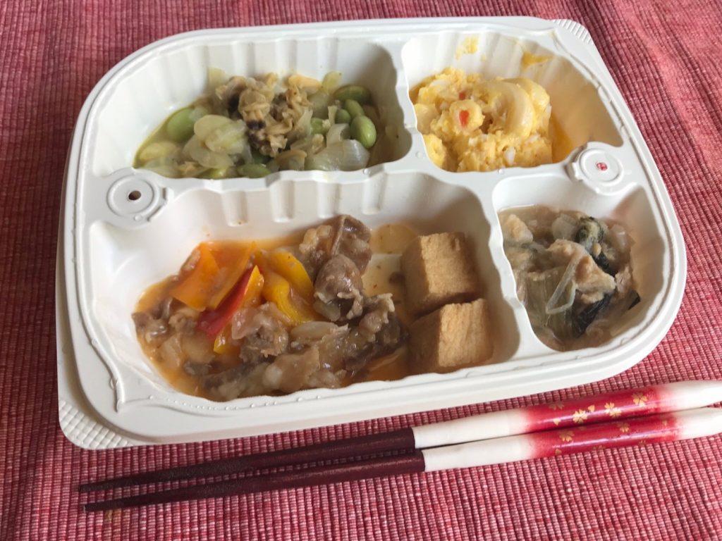 家常豆腐弁当調理済み
