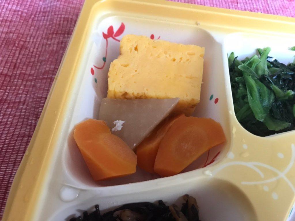 野菜の炊き合わせ・厚焼き玉子