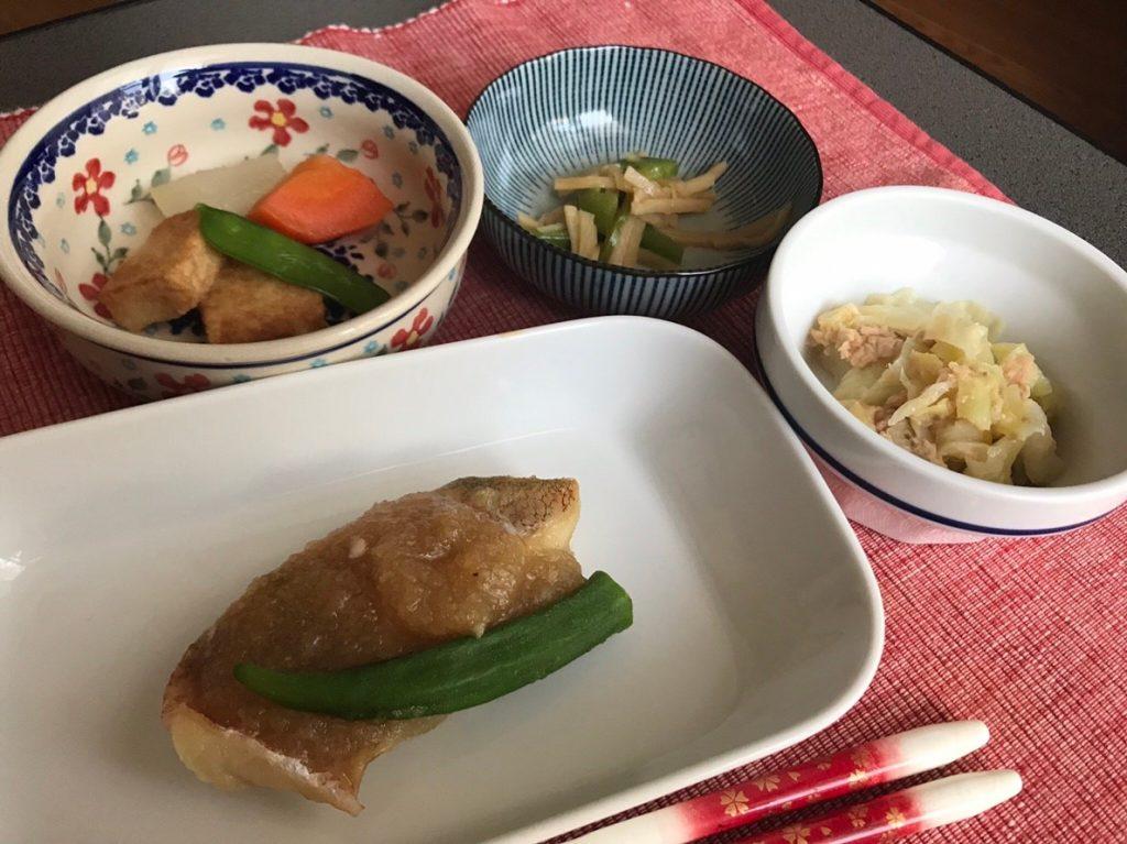 赤魚おろし煮皿盛6