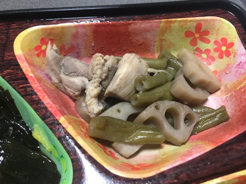 鶏と蓮根のピリ辛煮