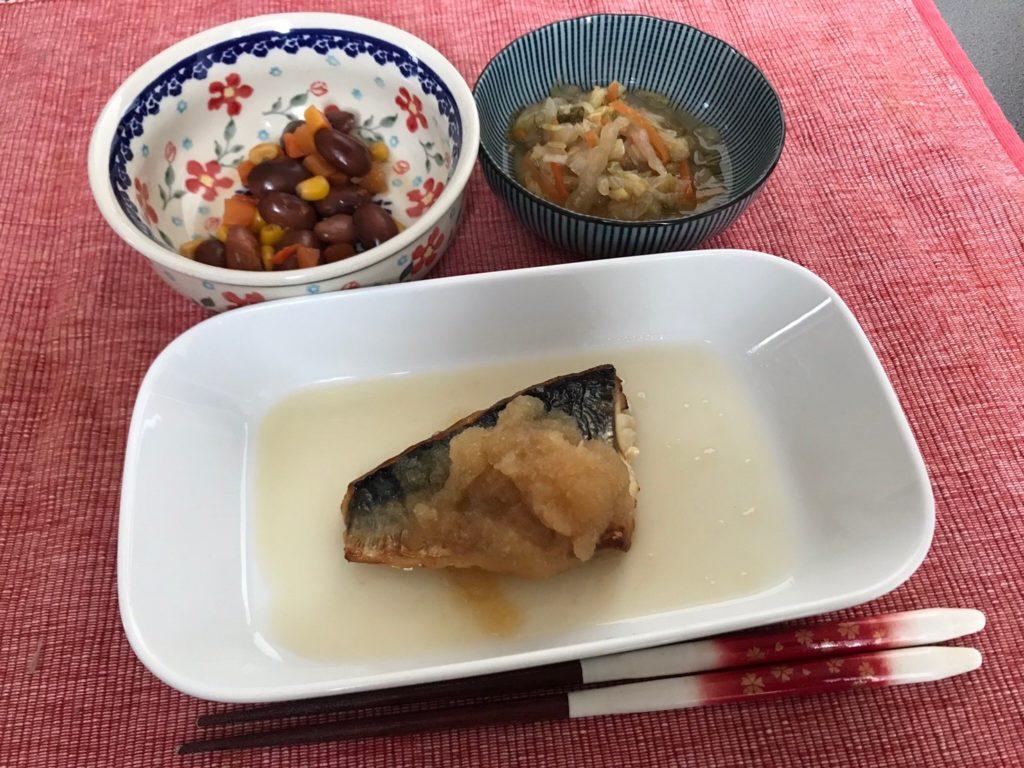 鯖のおろしポン酢調理済3