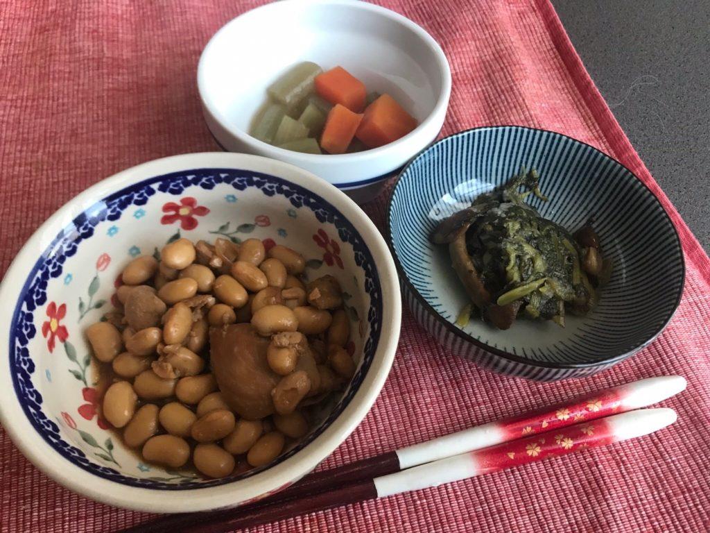 鶏肉と大豆の生姜煮調理済み